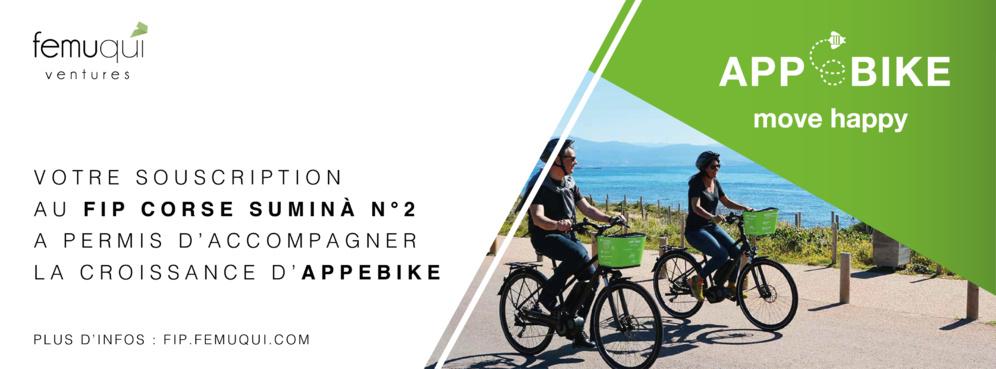 Le FIP Corse Suminà n°2 participe au déploiement de la start-up APPeBIKE